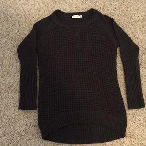 Tunic length sweater